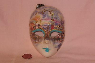 Handmade Wall Hanging Scenery Face Mask; Distributed By Venice Of Italy