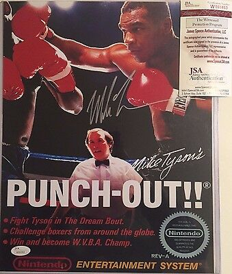 Mike Tyson Autographed Punch Out Cover 11x14 Photo JSA Witnessed COA