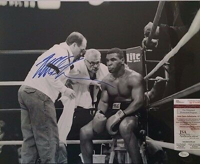 Mike Tyson Autographed Corner of the Ring 16x20 Photo JSA Witnessed COA
