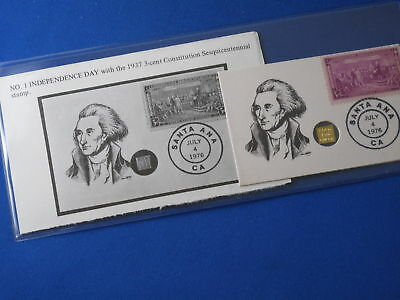 1976 Independence Day Bit O' Gold Gulch 24kt FDC B5325