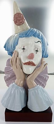 Rare / Huge / Stunning Lladro Clown Bust. 5129, Retired. Super Condition.