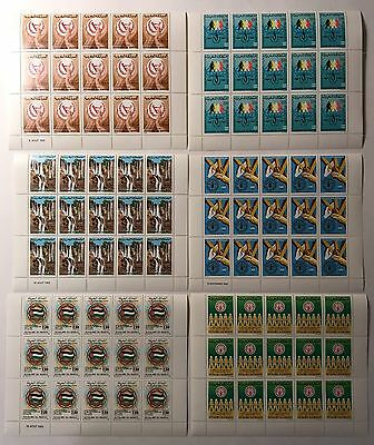 Morocco Stamps Lot 1980's Mint Never Hinged