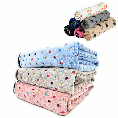Pet Dog Cat Blanket Mat Fleece Soft Cozy Blanket Dog Cat Mat Bed Sofa Cover Pads