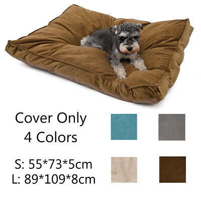 Pet Dog Pad Mat Cover Puppy Dog Cat Cushion Bed COVER ONLY Mat Soft Warm Blanket