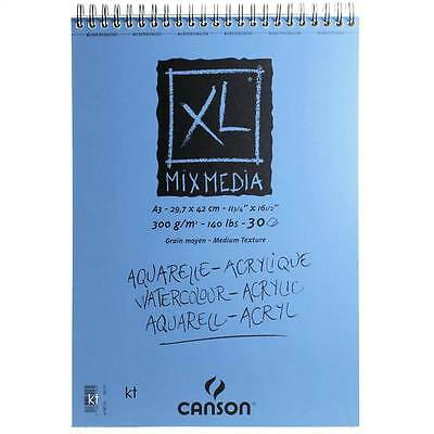 Canson XL Mixed Media Pad drawing sketching painting paper A3 300gsm - 30 Sheets