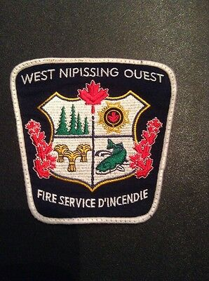 West Nipissing Fire Dept Patch Ontario Canada, Patch No Longer Exists