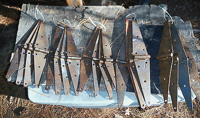 Pick A Set of 4 Antique Rustic Barn Hinges for Repurpose Projects discounted