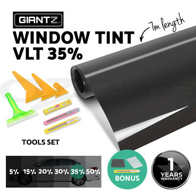 Car Home Window Tint Film Black Roll Glass 760mm*7m 35% VLT + Tinting Tools Kit