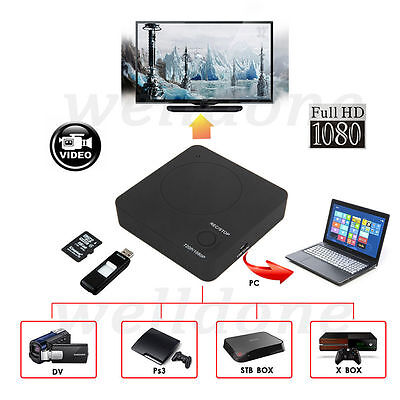 Mini HDMI HD Video Capture Box Nano Recording For Wii PS4 XBOX TV DVD PC Laptop