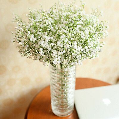 HOT Wedding Party Decor Artificial Baby's Breath Gypsophila Silk Flowers Bouquet