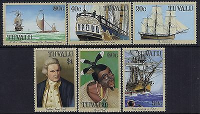 1988 Tuvalu Voyages Of Captain Cook Set Of 6 Mint Mnh With Faults