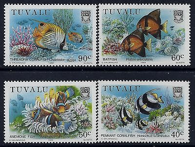 1989 Tuvalu Coral Reef Part Iii Set Of 4 Fine Mint Mnh/muh