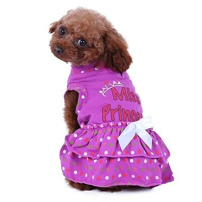 Dog Dress For Small Dogs Summer Girl Clothes Puppy Princess Vest Skirt Costume