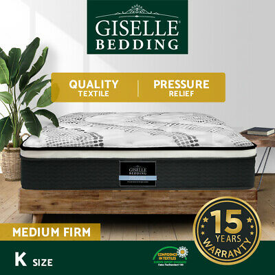 NEW Mattress King Size Euro Top 5 Zone Pocket Spring High Resilience Foam