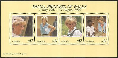 Namibia 1998 Diana, Princess of Wales/Royalty/People m/s ref:b1380