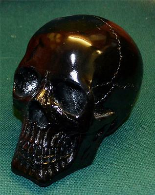 Nemesis Now GOTHIC BLACK GLOSS HUMAN SKULL SCULPTURE Magic Wiccan Pagan
