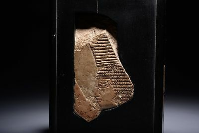 Ancient Egyptian New Kingdom Limestone Relief - 1550 BC