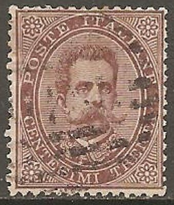 1879 Italy Umberto I 30c Brown SG 35 Used (Cat £2500)