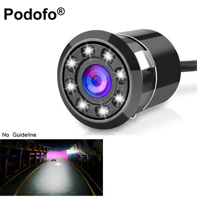 Car Rear View Backup Camera With 8 LEDs Night Vision Full HD CCD Cam