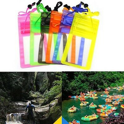 For 5.5 inch Cell Phone Waterproof Pouch Bag Case Cover Travel Drifting Swimming
