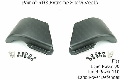 1 Pair of RDX Extreme Snow Vents/Cowls for Land Rover Defender, 90 & 110