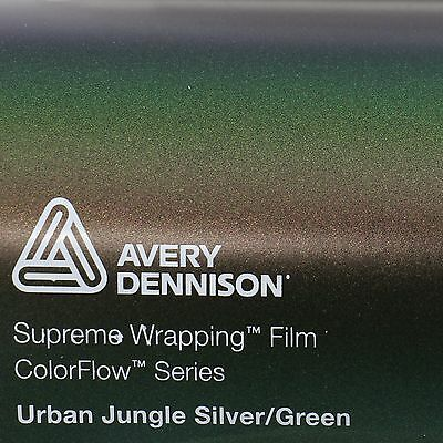 39,41€/m² Avery Supreme Wrapping Film Color Flow Urban Jungle Silver Green Folie