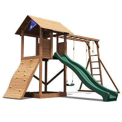 MaxiFort Frontier Childrens Climbing Frame, Swing and Slide - Dunster House