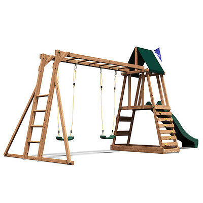 MiniFort Discovery Climbing Frame, Swing and Slide - Dunster House