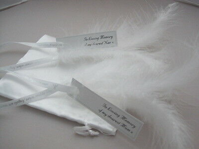 Feathers Appear When Angels Are Near Personalised Angel Wings Hanging Decoration