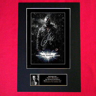 TOM HARDY Dark Knight Autograph Mounted Signed Photo RE-PRINT Print A4 105