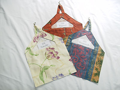 Peg Bags Clip on to the Line-Hand Made-Very Strong-Cotton Fabrics