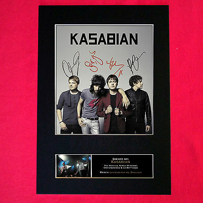 KASABIAN Mounted Signed Photo Reproduction Autograph Print A4 119