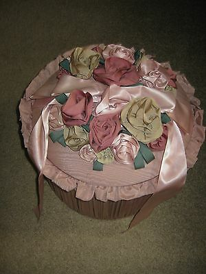 Beautiful Vintage Hat Box Decorated With Ribbons
