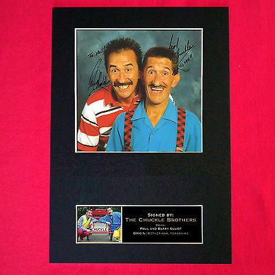 CHUCKLE BROTHERS No1 Mounted Signed Photo Reproduction Autograph Print A4 175