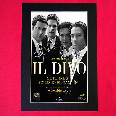 IL DIVO Mounted Signed Photo Reproduction Autograph Print A4 185