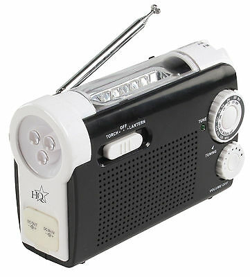 Wind-Up Portable AM / FM Radio with Built-in LED Torch and Mobile Phone Charger