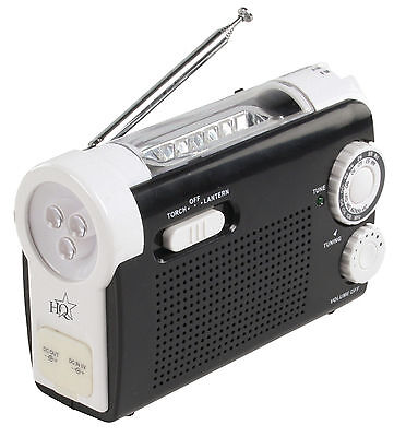 Wind Up Portable AM / FM Radio with Built-in LED Torch and Mobile Phone Charger