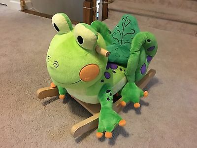 Fergie Frog Kids Rocker with Musical Sound Charm Co
