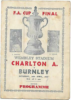 Pirate Charlton Athletic v Burnley F.A. Cup Final 26th April 1947
