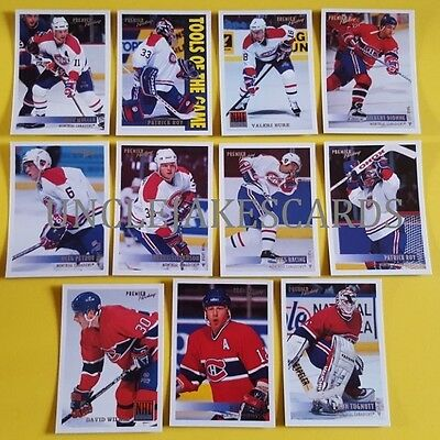 94-95 OPC PREMIER MONTREAL CANADIENS Select from LIST HOCKEY CARDS O-PEE-CHEE