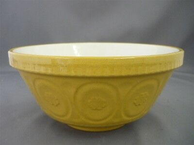 "Vintage Yellow Ware 8 1/2"" Mixing Baking Bowl T.G. Green Made in England"