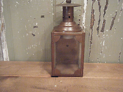 * Vintage Solid Brass Light Fixture Sconce Wall Hand Crafted Patina 1970s Solder