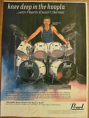 Jefferson Starship, Donny Baldwin, Pearl Drums, Full Page Vintage Promotional Ad