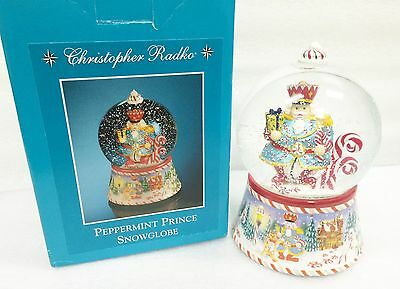 Christopher Radko Home For the Holidays Peppermint Prince Snowglobe