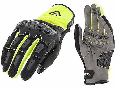 Guanti Moto Enduro Cross Acerbis Carbon G 3.0 Nero Giallo Fluo Gloves Tg M