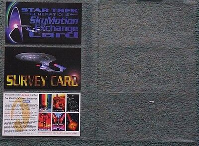 Star Trek Generations Exchange, Survey And Offer Cards