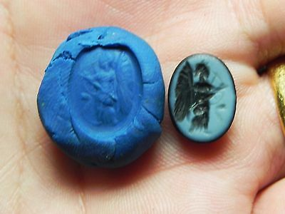 Zurqieh -Af945-  Ancient Egypt - Beautiful Roman Stone Intaglio. 200 A.d