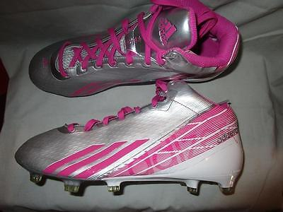 Adidas Adizero  5 Star 2.0 Mid Football Cleats Sz 10 White / Pink /Silver G67098