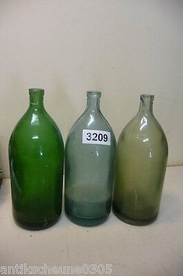 3209. 3 Stck. alte Sodaflaschen  Siphonflasche 1 l Old soda siphon seltzer