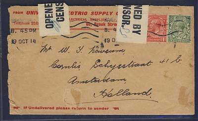 E14230 Great Britain 1914 Censored Cover To Holland